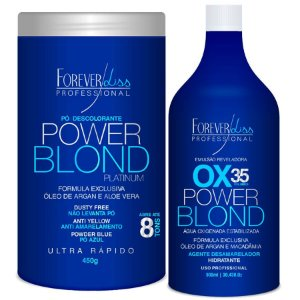Kit Power Blond Forever Liss - Pó Descolorante e Ox 35 vol.