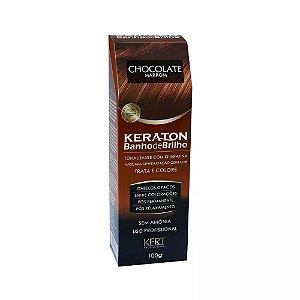 Tonalizante com Queratina Keraton Banho de Brilho Chocolate 100g  Marrom