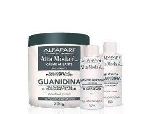 Kit Alisante Guanidina Alfaparf Alta Moda sem Amônia e Soda