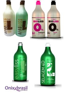 Kit Onixx Brasil, Afro Liss, Bio Liss, Semi Definitiva e Selagem  4D