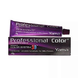 Tintura Profissional Color 3D Yamá 6.1 - Louro Escuro Acinzentado