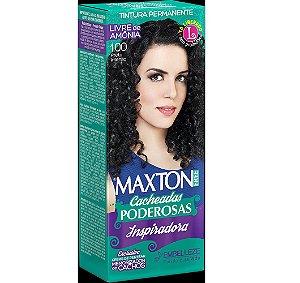 Tintura Embelleze Maxton Free Cacheadas 1.00 Preto Intenso