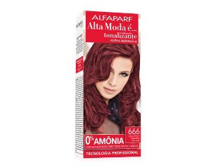 Tonalizante Alfaparf Alta moda 666 Louro Claro Vermelho Vibrante