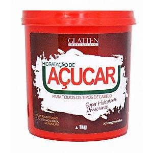 Máscara Hidratação de Açucar Glatten Professional 1 Kg
