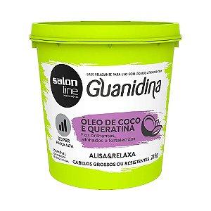 Guanidina Salon Line com Óleo de Coco e Queratina 215 gr