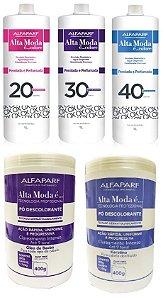 Kit Descolorante Alfaparf Alta Moda com 02 Pó e 03 Água