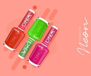 Coleção Esmaltes Neon DNA Italy vitaminado com Óleo de Coco