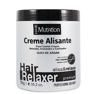 Creme Alisante Relaxante Hair Mutation Com Argan Premium 1kg
