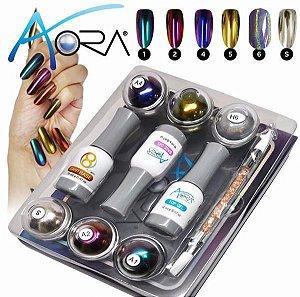 Kit Aora The One Nails - Kit Cromo para decoração de unhas