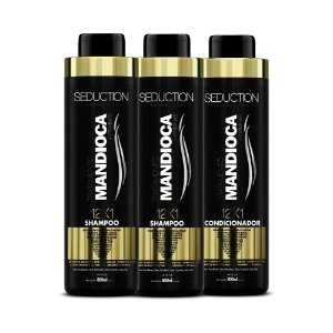 kit Seduction 2 Shampoo e 1 Condicionador 12X1 Mandioca 800ml