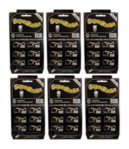 Kit com 6 Cartelas SuperBarba Premium Black 360 Lâminas