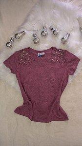 T- Shirt ombro Estrelado - G