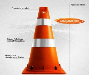 CONE SEMI FLEXÍVEL COM FENDAS