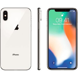 iPhone X 64GB - Prateado