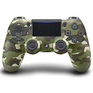 Controle Sony Dualshock 4 Camuflado sem fio (Com led frontal) - PS4