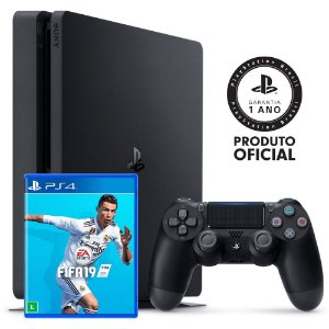 Console PlayStation 4 Slim 1TB + FIFA 19 + 14 Dias PlayStation Plus - Sony