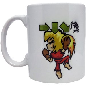 Caneca Street Fighter - Ken - Shoryuken