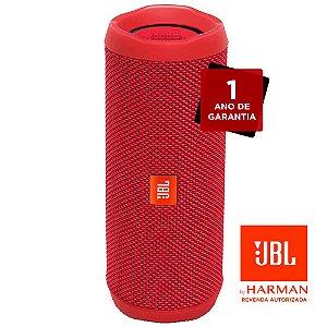 Caixa de Som Bluetooth JBL Flip4 - Vermelho