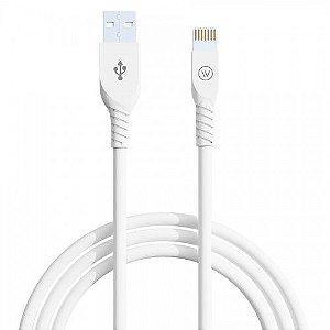 Cabo USB Lightning MFI 1,2m iPhone/iPad Branco - iWill