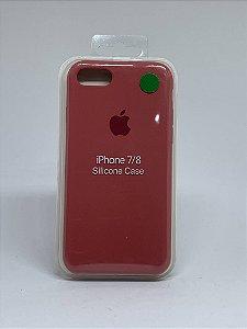 Capinha Silicone Apple - Goiaba - iPhone 7/8
