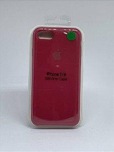 Capinha Silicone Apple - Marsala - iPhone 7/8