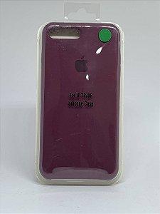 Capinha Silicone Apple - Ameixa - iPhone 7 Plus / 8 Plus