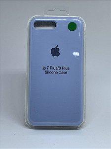 Capinha Silicone Apple - Azul Bebê - iPhone 7 Plus / 8 Plus