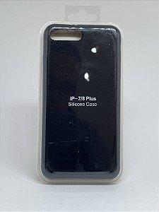 Capinha Silicone Apple - Preta - iPhone 7 Plus / 8 Plus