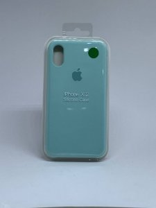 Capinha Silicone Apple - Verde Agua - iPhone X/XS