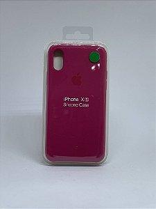 Capinha Silicone Apple - Marsala - iPhone X/XS