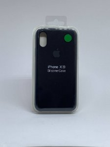 Capinha Silicone Apple - Preto - iPhone X/XS