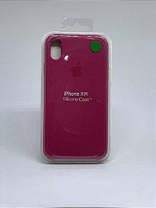 Capinha Silicone Apple - Marsala - iPhone XR