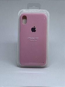 Capinha Silicone Apple - Rosa Claro - iPhone XR