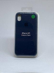 Capinha Silicone Apple - Azul Marinho - iPhone XR