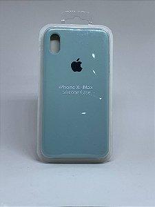 Capinha Silicone Apple - Verde Agua - iPhone XS MAX