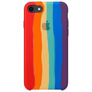 Capinha Silicone Arco Íris - iPhone 7/8