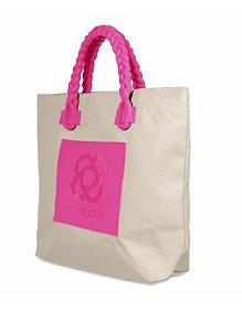 Bolsa PJ4299 Palha/Natural/Pink Lemonade