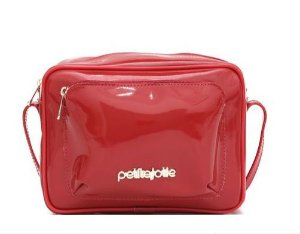 Bolsa Cassy Petite jolie PJ5007  verniz Vermelho banjo