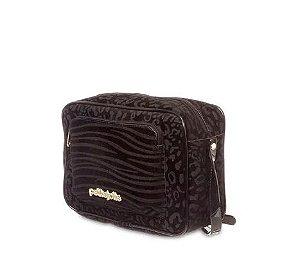 Bolsa Cassy Petite jolie PJ5007 Onça/zebra Preto