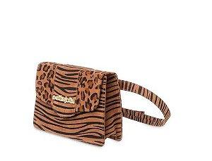 Bolsa Koby Petite jolie PJ5063 Zebra/Onça Natural