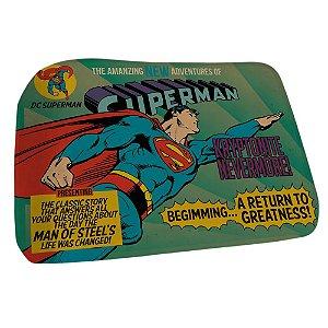Tapete Poliester Floffy Quarto Super Homem 70x45cm