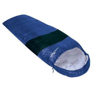 Saco de Dormir Nautika Viper 5°C a 12°C Tipo Sarcófago - Preto e Azul