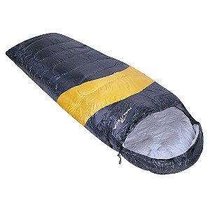 Saco de Dormir Nautika Viper 5°C a 12°C Tipo Sarcófago - Preto e Laranja