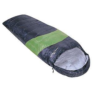 Saco de Dormir Nautika Viper 5°C a 12°C Tipo Sarcófago - Preto e Verde