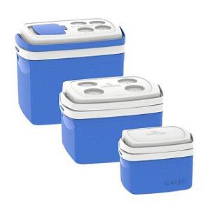 Combo Caixas Térmicas Soprano - 32 12 5 Litros - Azul