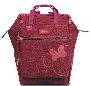 Bolsa Maternidade BabyGO C/ Trocador Minnie - Vinho 00881