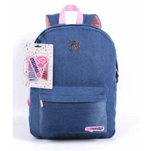 Mochila Capricho Jeans Com Patches - Be Yourself 11360