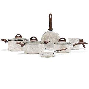 Jogo de Panelas 6 Pçs Brinox Ceramic Lf Smart - Vanilla