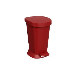 Lixeira Brinox com Pedal Square 5 Litros - Vermelho