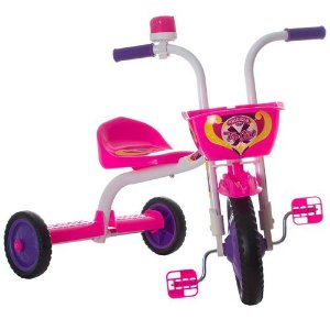 Triciclo Top Girl Ultra Bike - Branca e Rosa